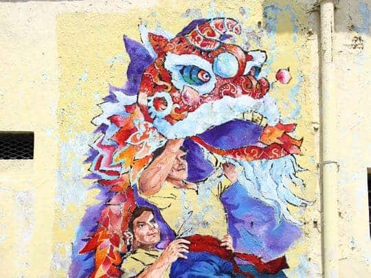 Street art Ipoh Malaysia