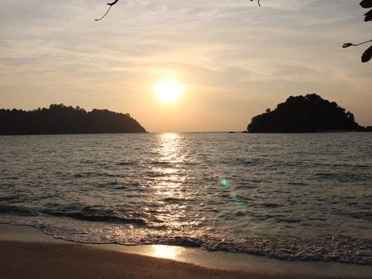Sunset from Coral beach Pulau Pangkor