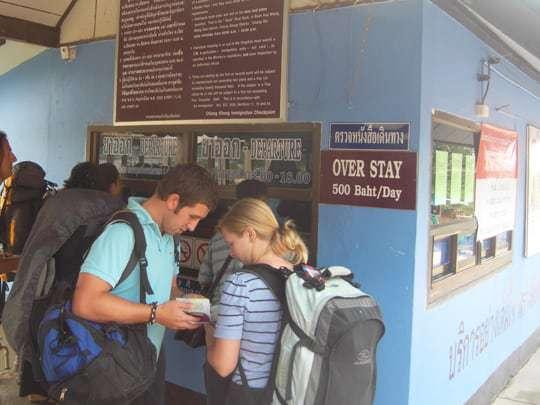 500 Thai Baht overstay at the Thai Immigration Visa Office.