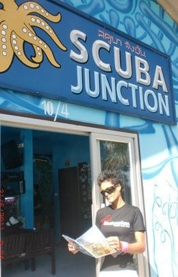 Scuba Junction customer
