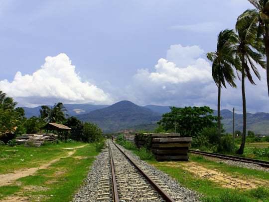 abandoned train line