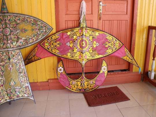 A Clolourful Moon Kite in Kota Bharu