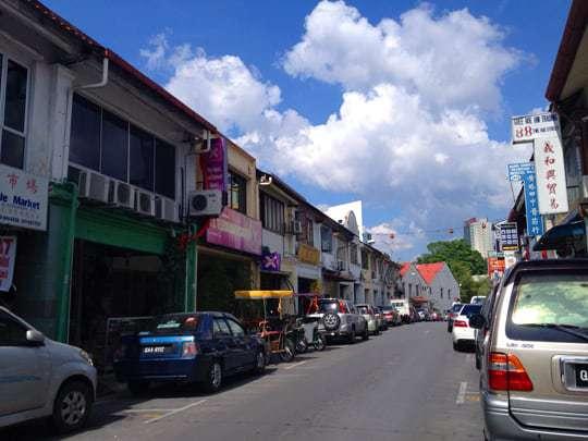 Kuching shophouses