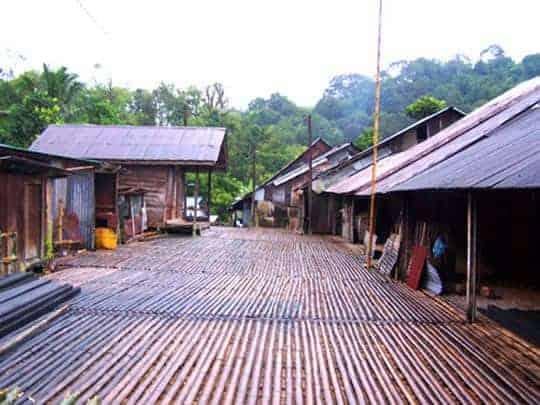 Long houses Borneo