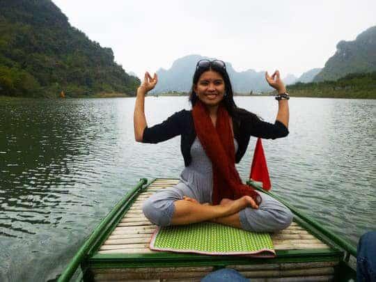There's even a space for a yoga cliche pose!