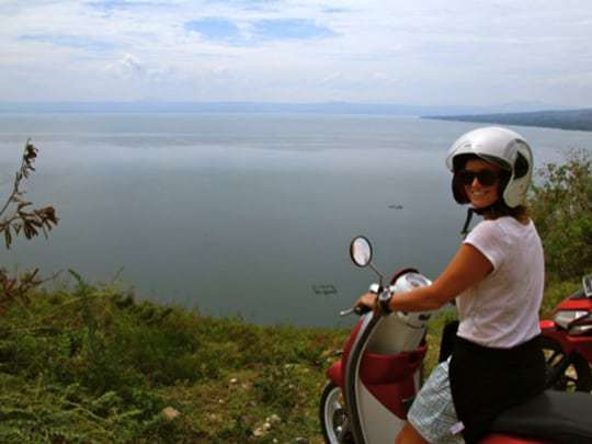 bike toba Lake Toba