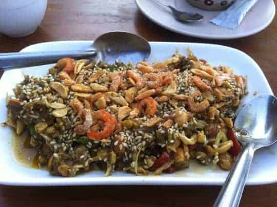 Burmese tea leaf salad.