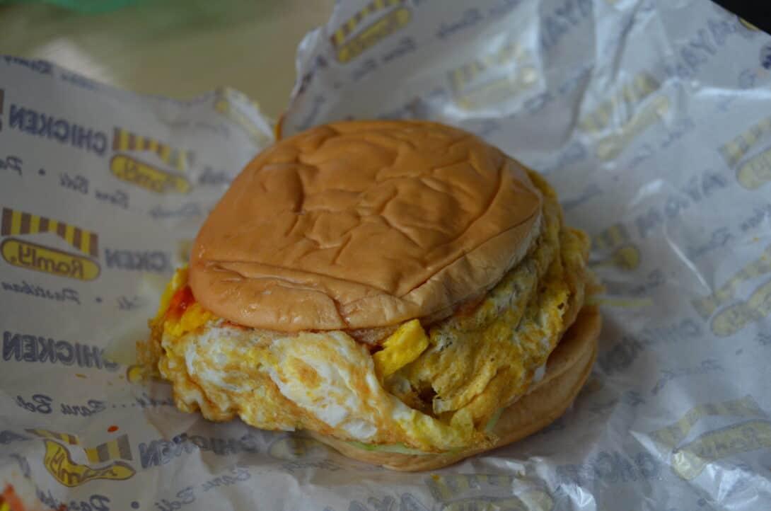 Malaysia's national burger - a Ramly Burger!