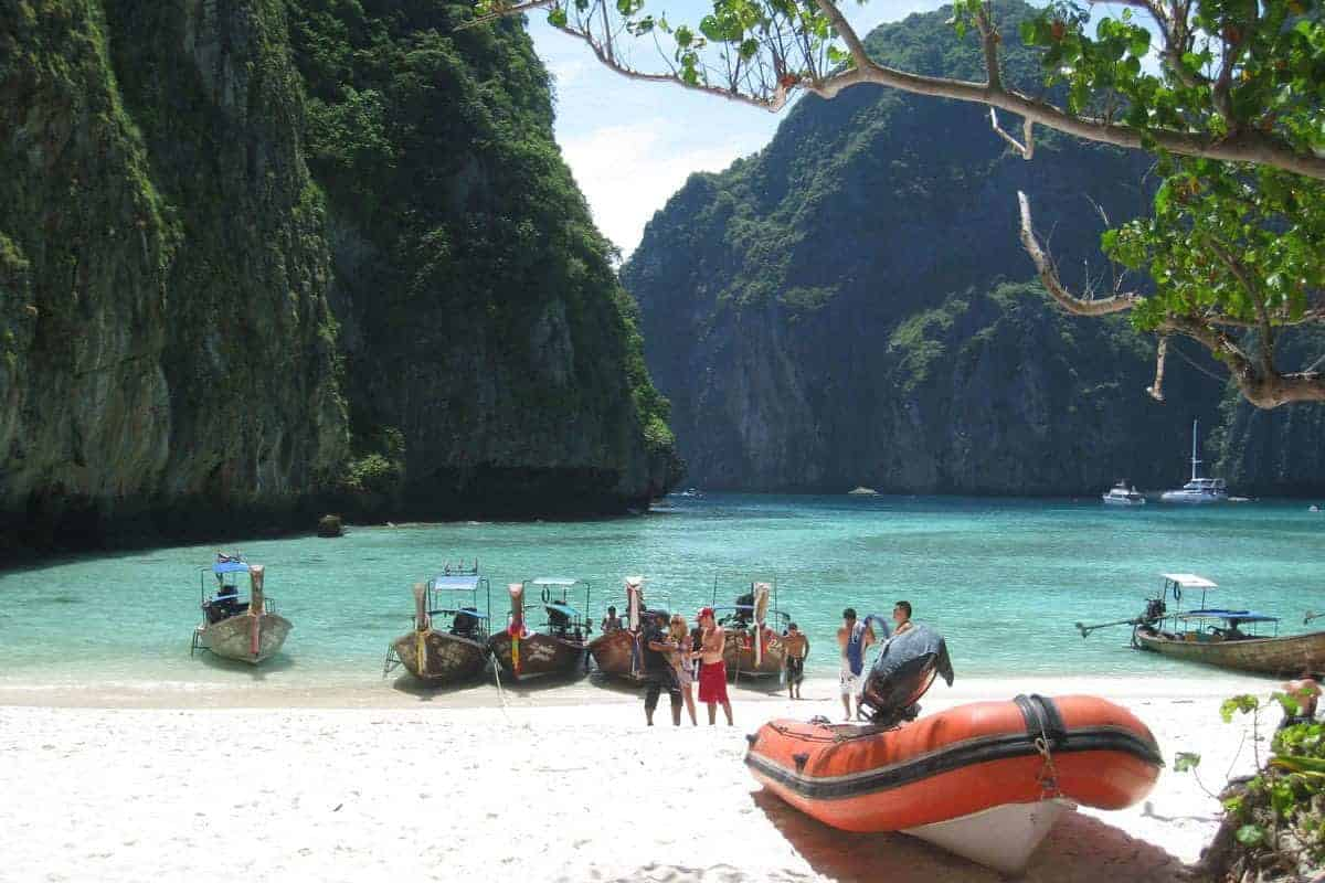The famous postcard 'beach' of Koh Phi Phi.