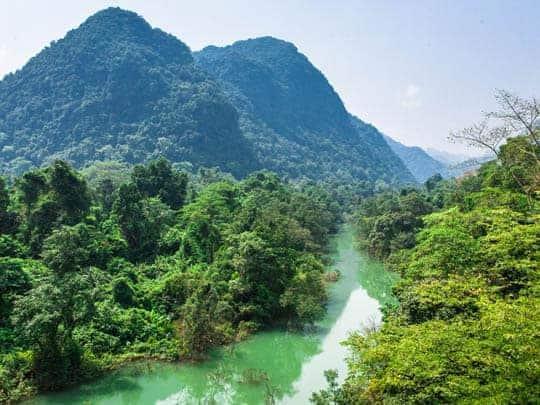 The amazing scenery around Phong Nha.