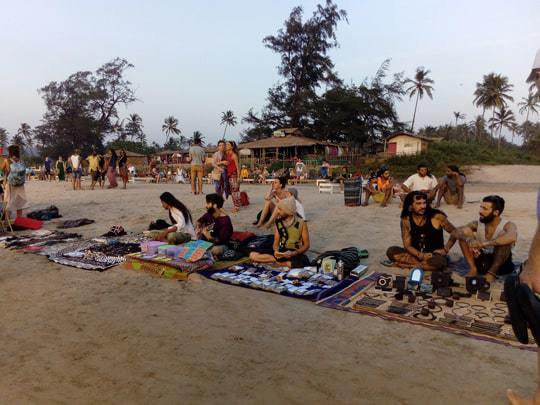 Hippies Selling Things on Arambol Beach