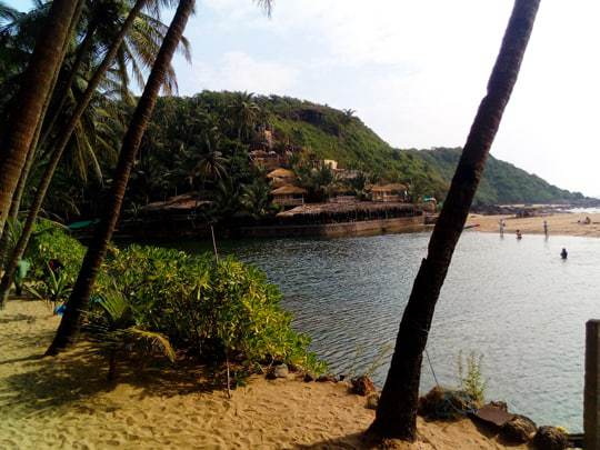 The View Across The Lagoon at Cola Beach, South Goa