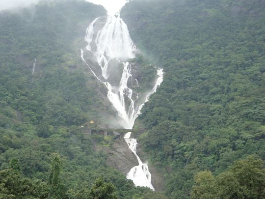 Dudhsagar Falls Seen on a Misty Day