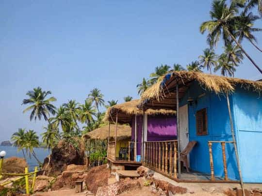 Colourful Beach huts in Goa
