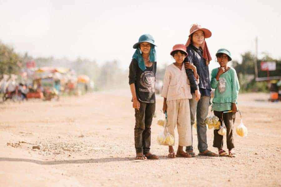 A Group of Children in Cambodia