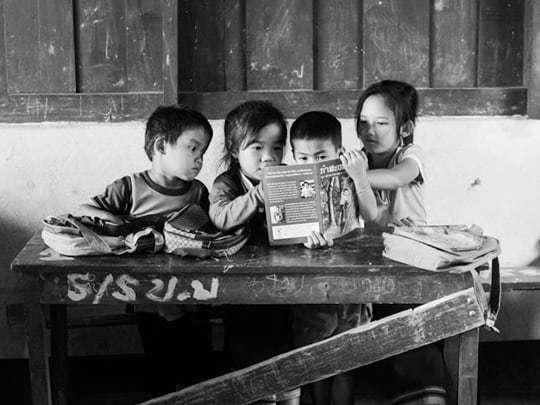 Pencils of promise Laos