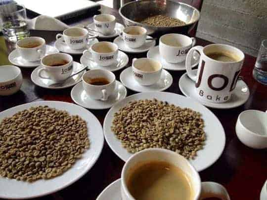 coffee beans and coffee