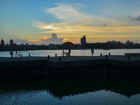 1 Sunset at Lotus Pond in Kaohsiung Taiwan