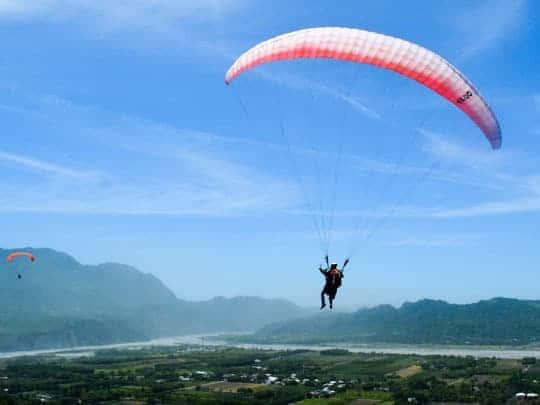 4 Paragliding near Taitung Taiwan