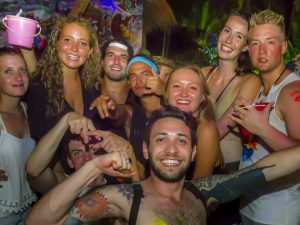 The full moon party in Thailand