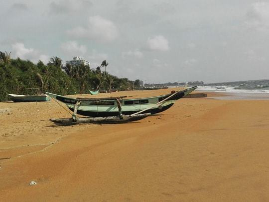 Boats on the beach of Dehiwala, Colombo, Sri Lanka
