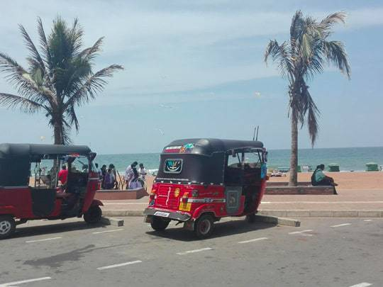 Tuk-tuks at Galle Face Green - Colombo, Sri Lanka