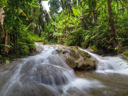 Kratengjeng Waterfall in Sangkhlaburi