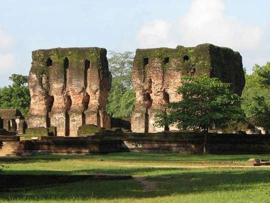 Ruins at The Ancient City of Polonnarawu.