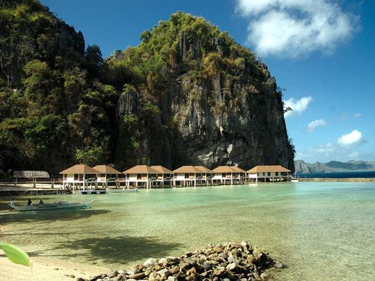 Bungalows on Stilts in El Nido