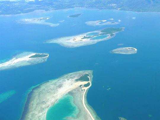 The Island Pearls of Honda Bay Seen From Above