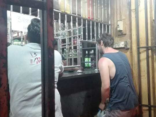 buying beer in Sri Lanka