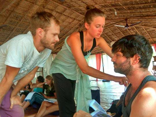 Anatomy class, Becoming a Yoga Teacher in India