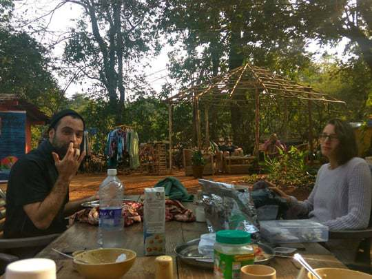 Lunch at Jungle Dance, Becoming a Yoga Teacher in India
