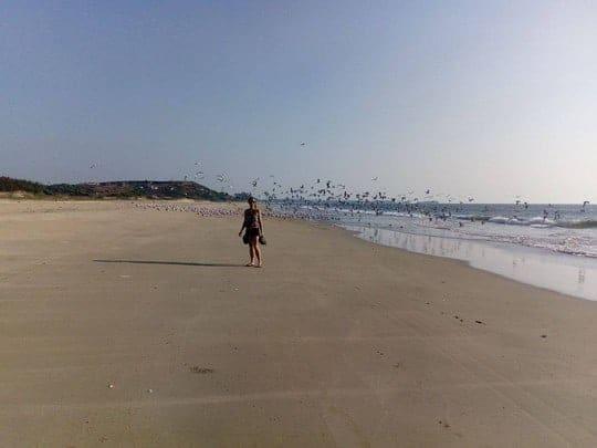 Beach in Maharastra, Becoming a Yoga Teacher in India