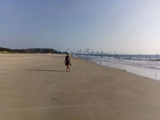 Beach in Maharastra, Becoming a Yoga Teacher in India