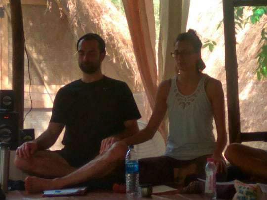 Meditation class, Becoming a Yoga Teacher in India