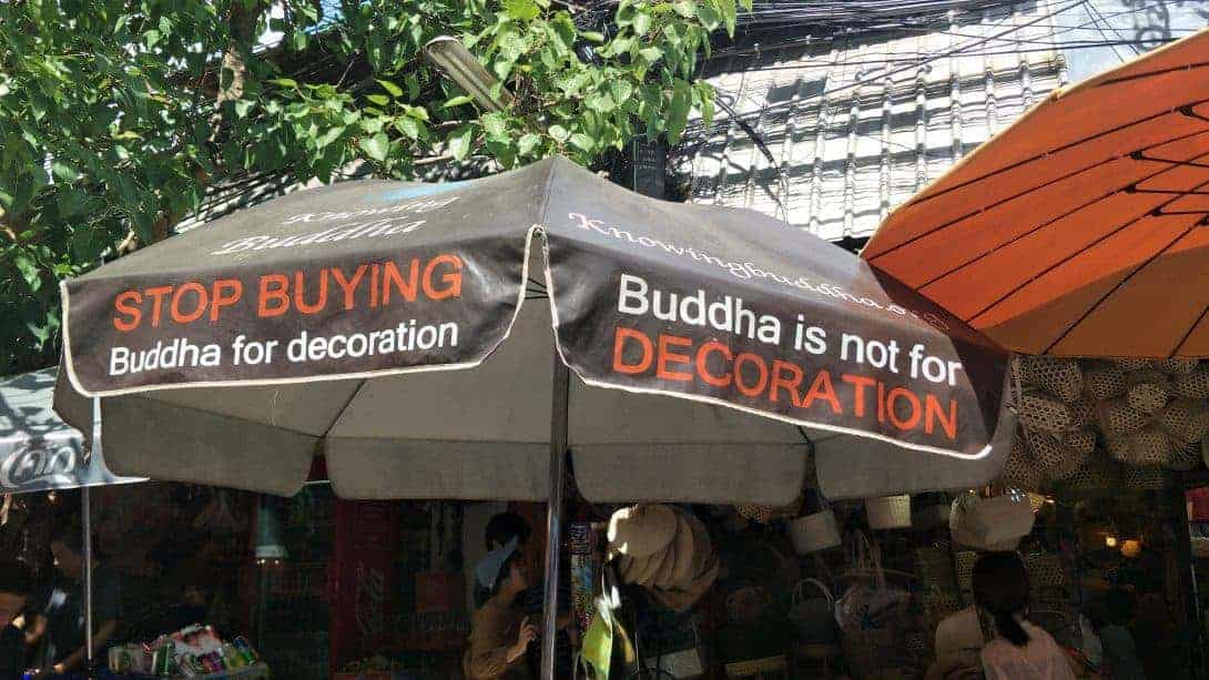 Buddha is not for decoration