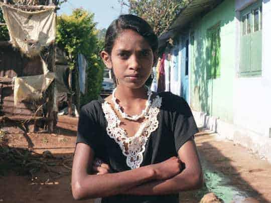 Girl in Goa, India. Analog photography