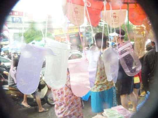 Zip lock bags to help you survive Songkran.