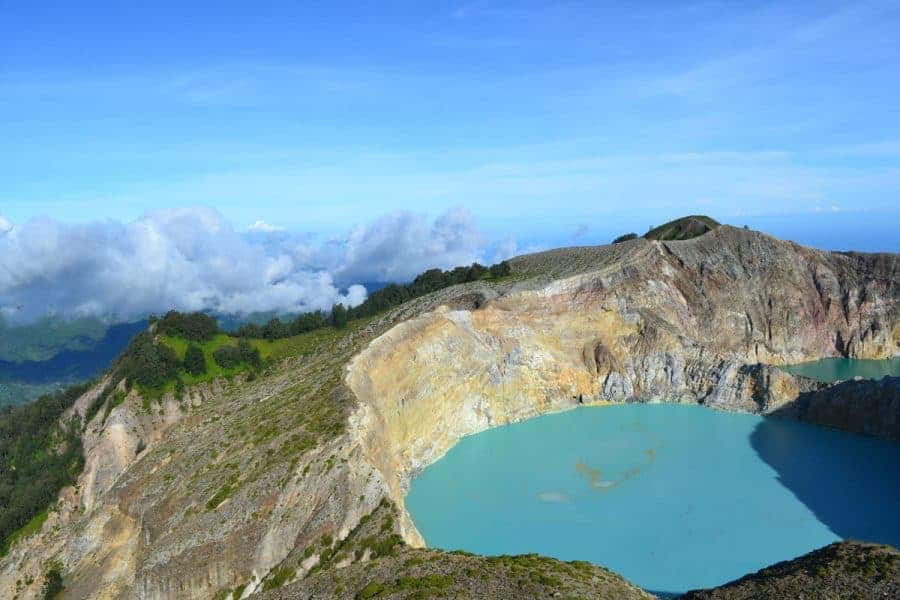 A volcano in Timor Leste