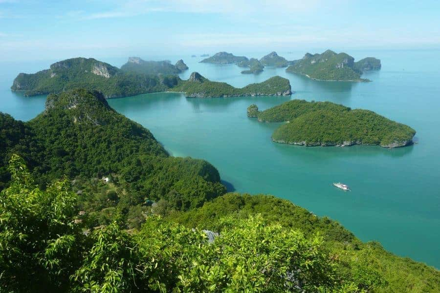 Ang Thong Marine Park seen from above