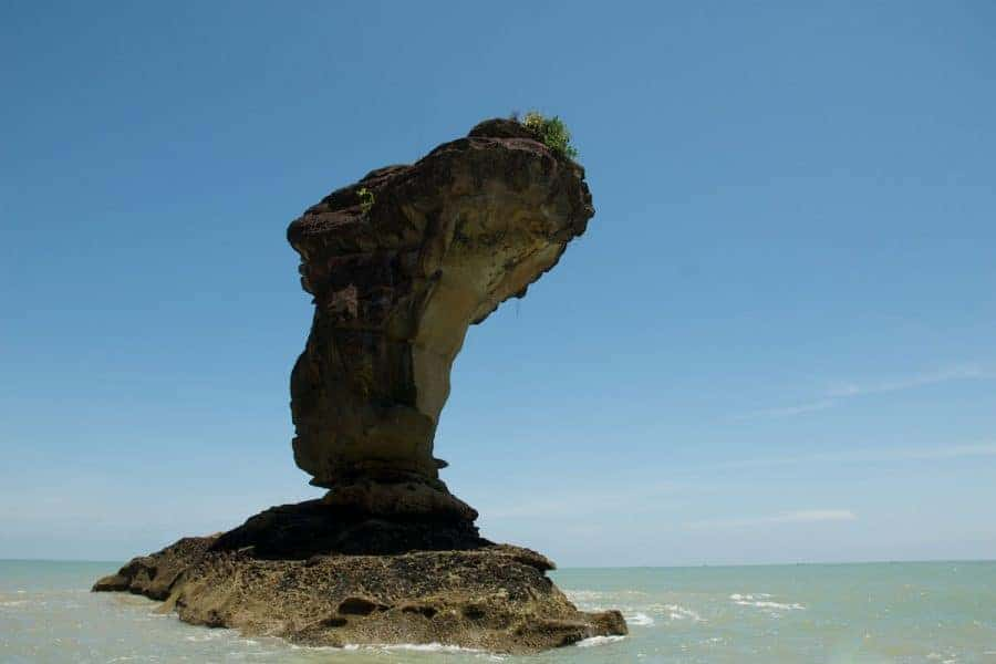 A lone rock in Bako National Park