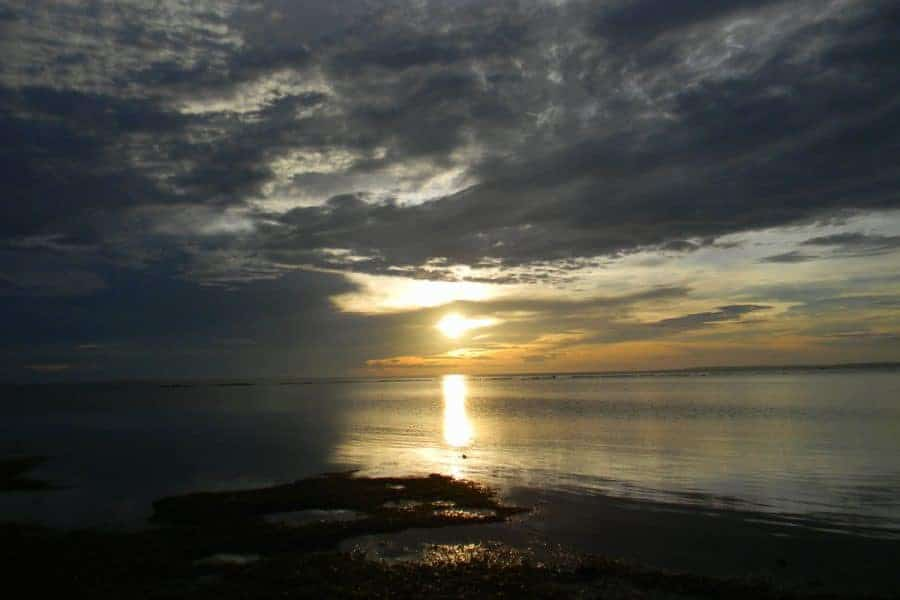Sunset over the water in Bantayan