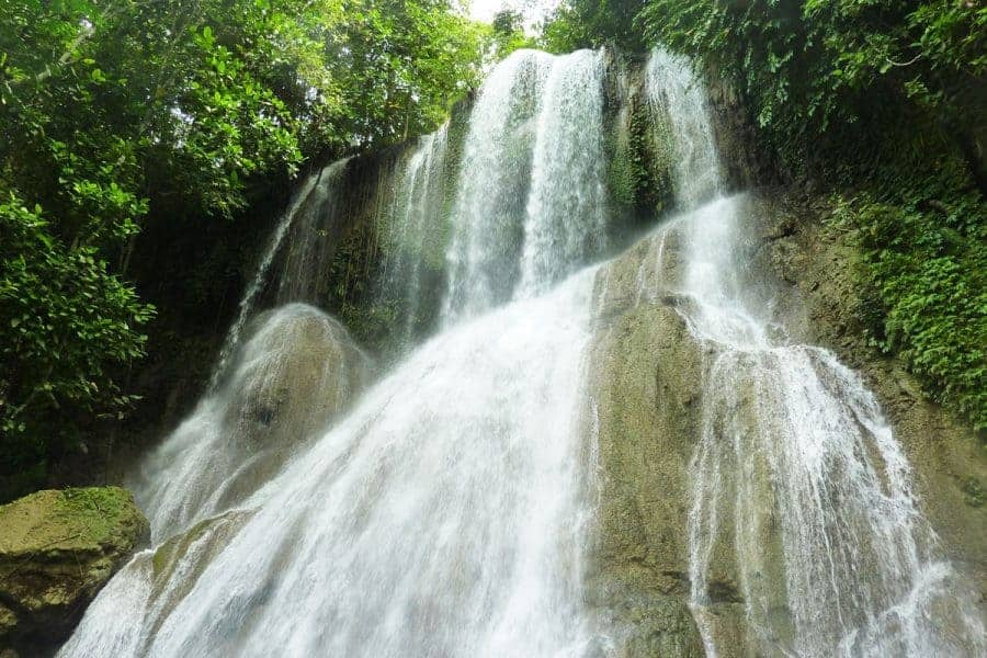 A waterfall in Bohol