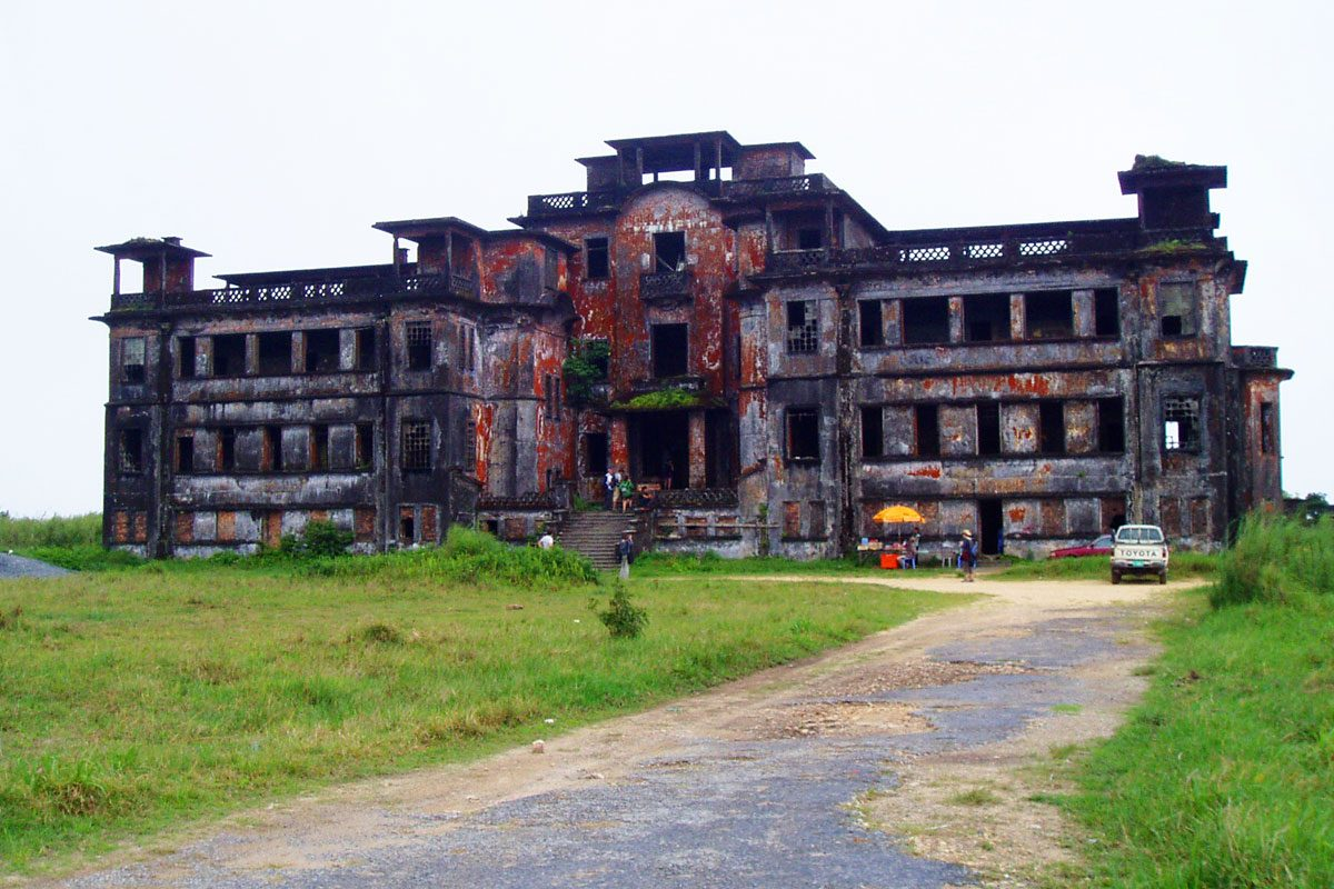 An Abandoned Ghost Town: Bokor Hill Station, Cambodia