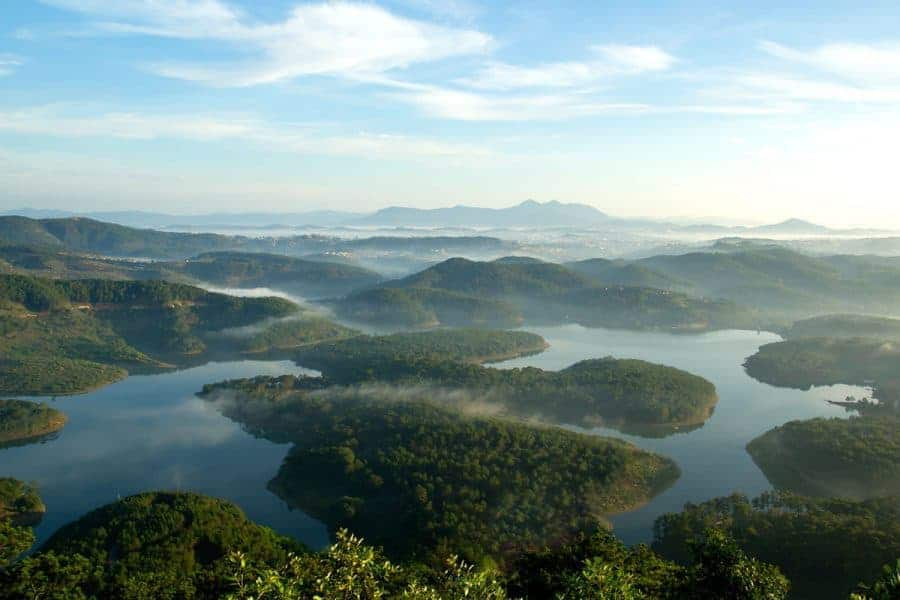 Mountains and lakes of Dalat, Vietnam