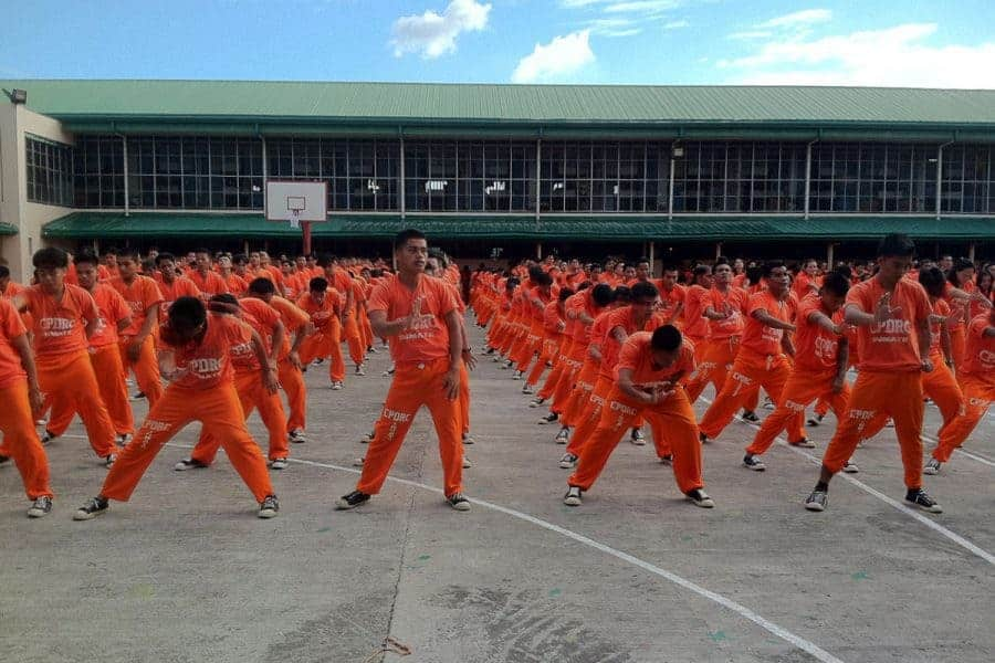 The famous dancing inmates of Cebu, Philippines.