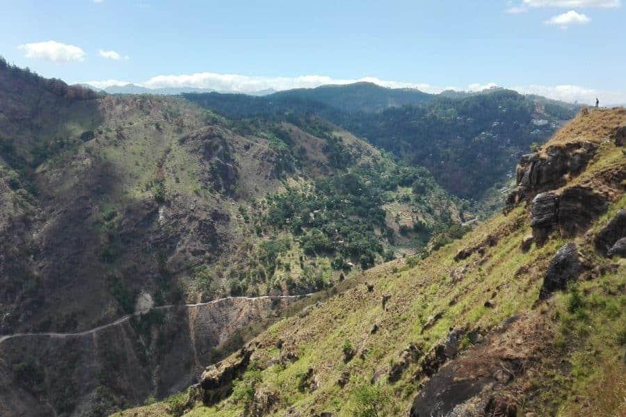 A view of the valley in Ella, Sri Lanka