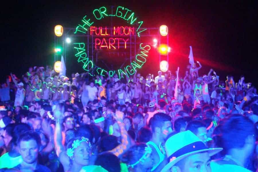 Koh Phangan's famous Full Moon Party, Thailand.