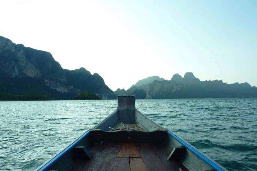 The view from the boat on Cheow Lan Lake (Ratchaprapha Dam)
